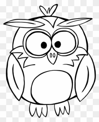Free PNG Owl Black And White Clip Art Download.