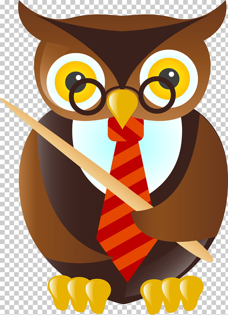 School Teacher Owl , school PNG clipart.