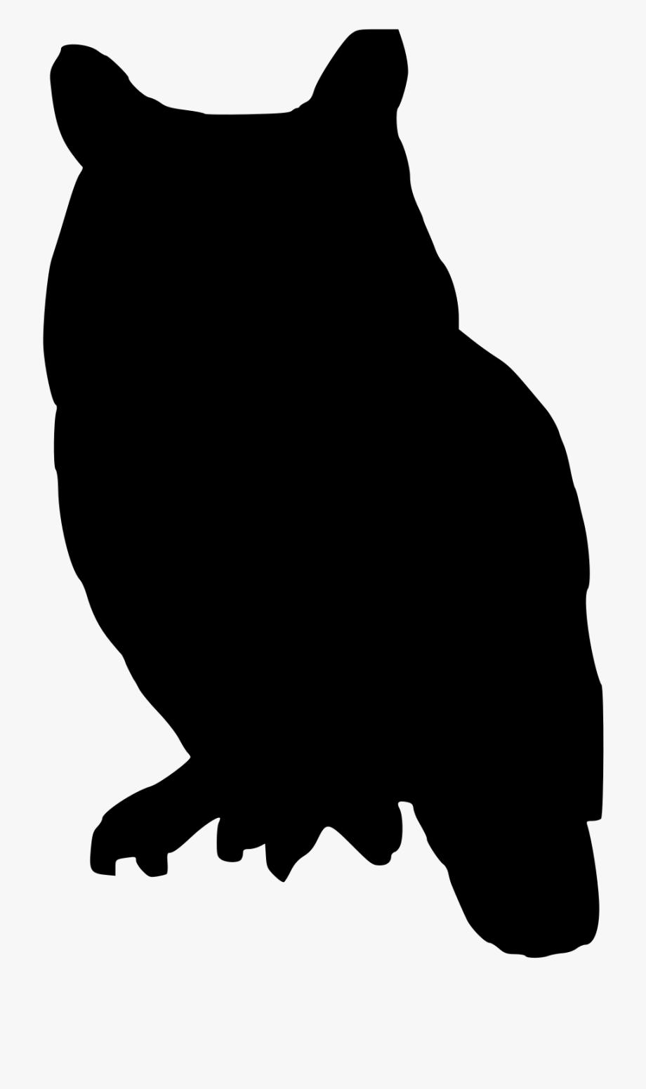 Owl Clip Art Silhouette.