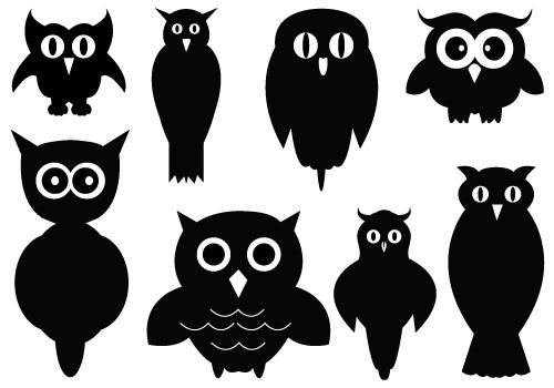 Owl Silhouette Vector Clipart Silhouette Clip Art Bloglovin.
