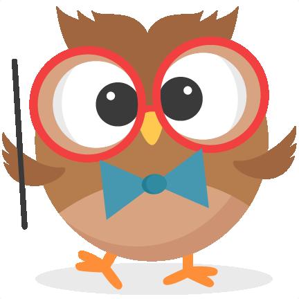 Cute School Owl Clipart.
