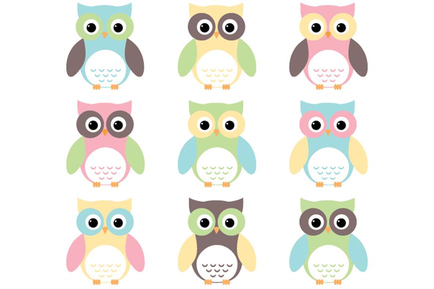 Owl Design Clipart.