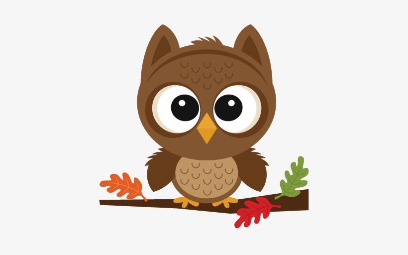 Fall Owl Scrapbook Cut File Cute Clipart Files For.