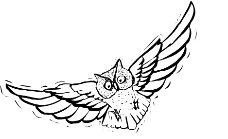 Free Flying Owl Clipart Black And White, Download Free Clip.