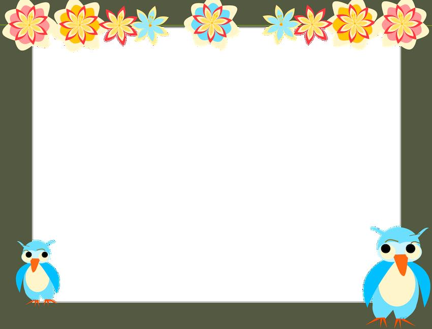 free digital owl scrapbooking paper for kids AND digital owl frame.