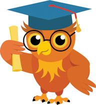 Owl holding diploma celebrating graduation clipart » Clipart.
