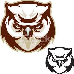 Owl Head Clipart Image.