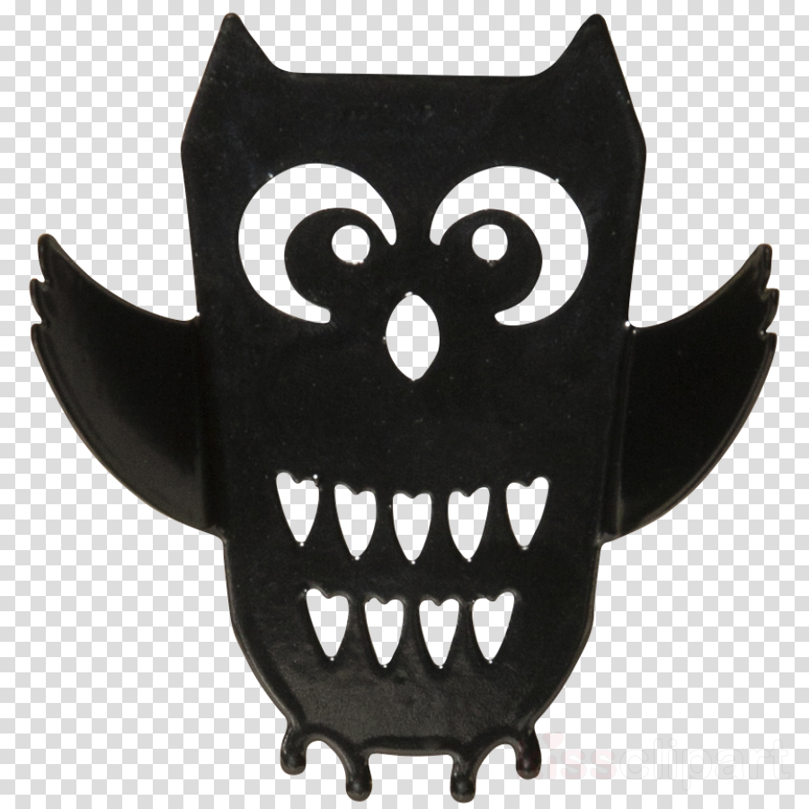 owl head cartoon tooth bat clipart.