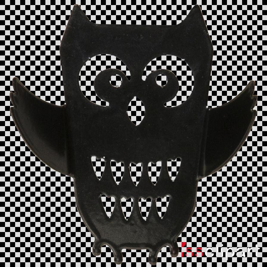 owl head cartoon tooth bat clipart.