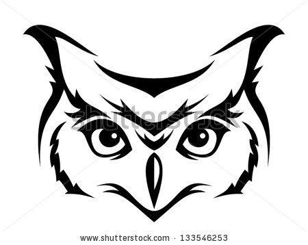 Owl Head Silhouette.