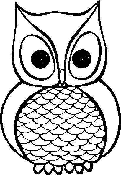 Best Owl Clipart Black and White #28302.