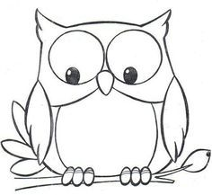 Clipart black and white owl » Clipart Portal.