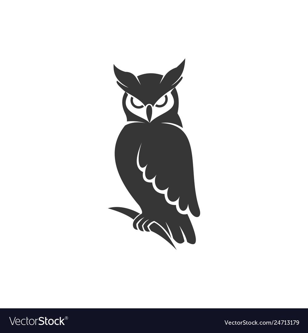 Owl logo black.