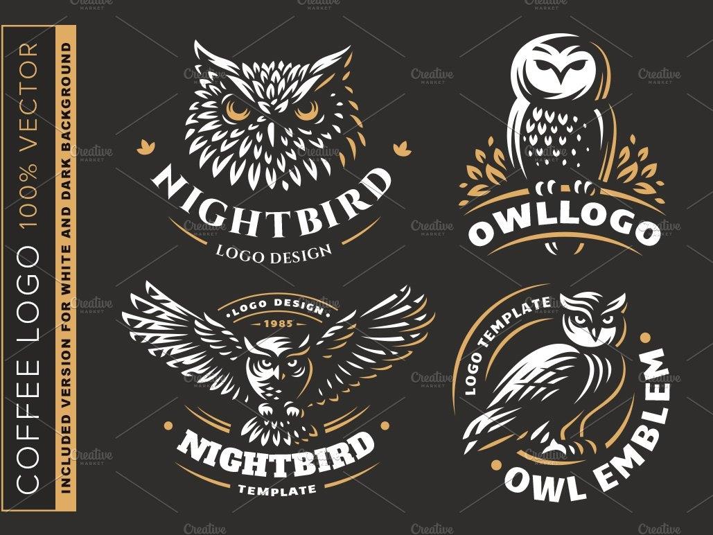 Owl logo set by Logo Templates on Dribbble.