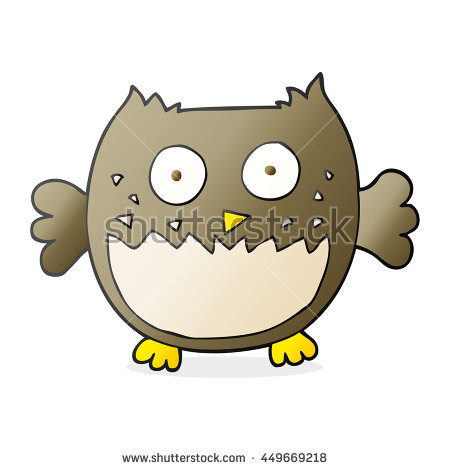 Young Owl Look His Father Vector Stock Vector 95974633.