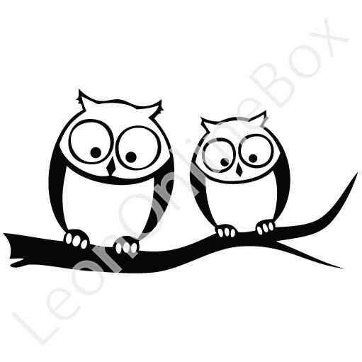 Owl Look Below Cartoon Custom Vinyl Decals & Window Sticker.