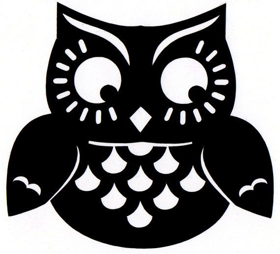 cute owl on tree clipart black and white - Clipground