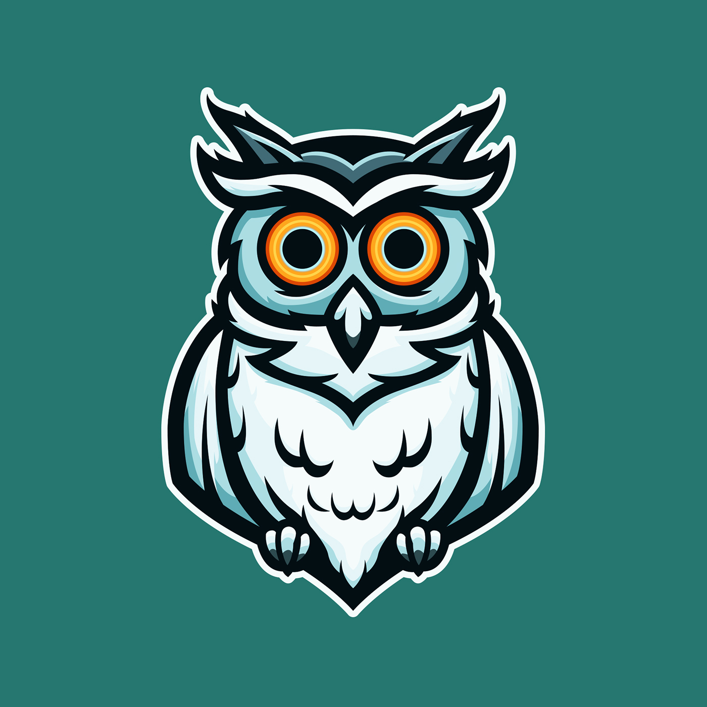 Owl Mascot Logo / Illustration : Illustration.