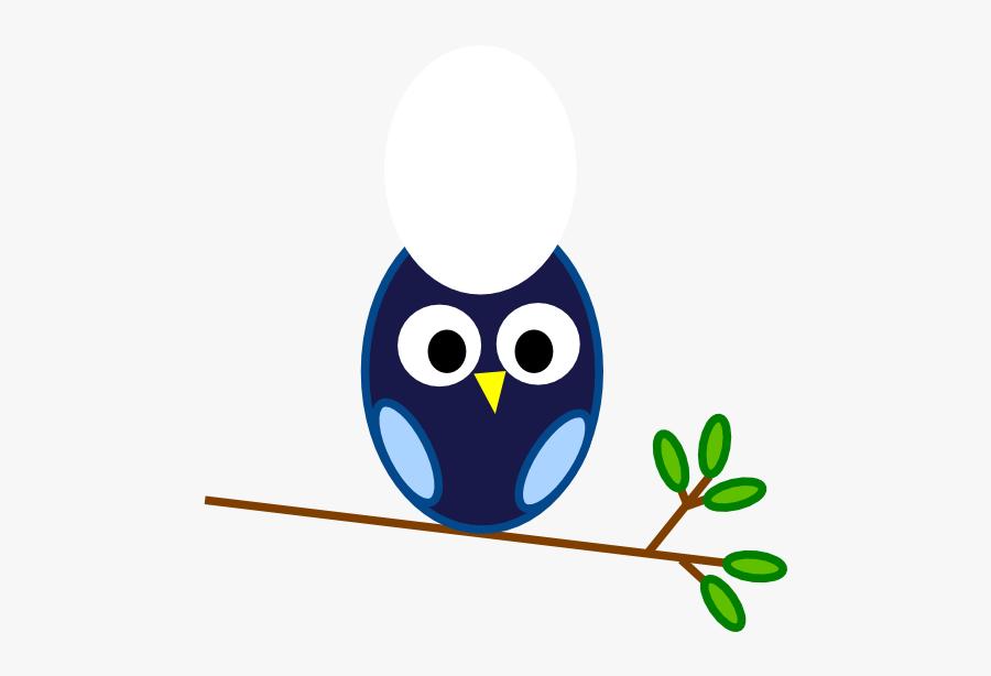 Blue Owl Branch Clip Art At Clker.