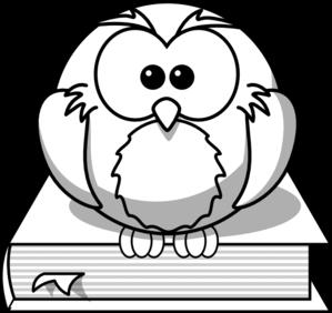 Owl On Book Outline Clip Art at Clker.com.