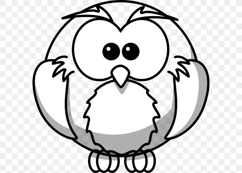 Snowy Owl Drawing Outline Clip Art, PNG, 600x587px.