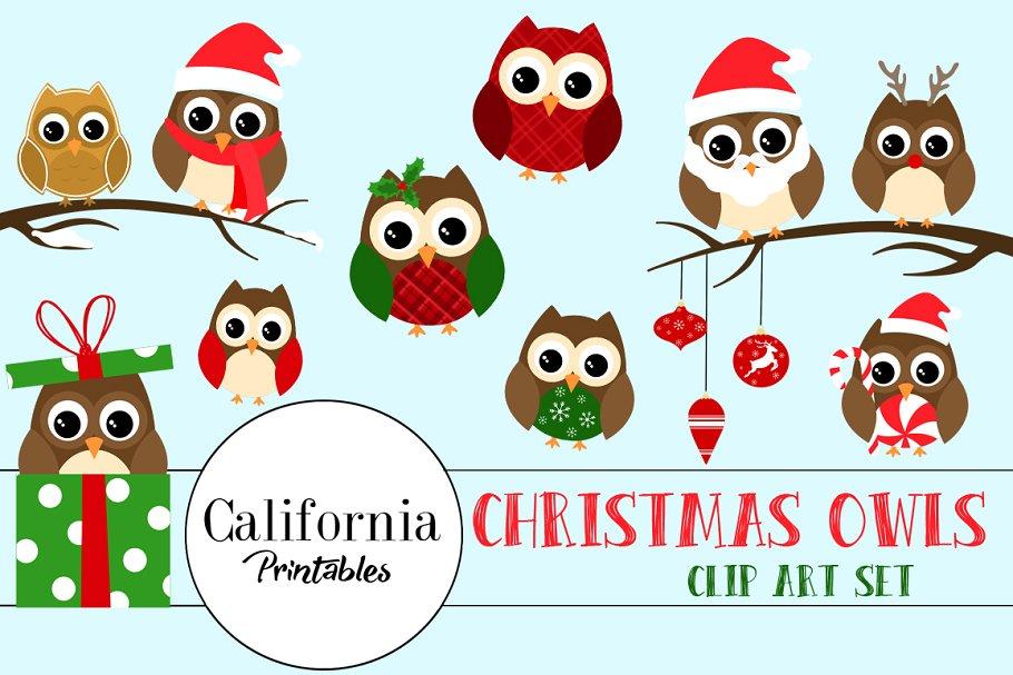 Christmas Owl ClipArt.