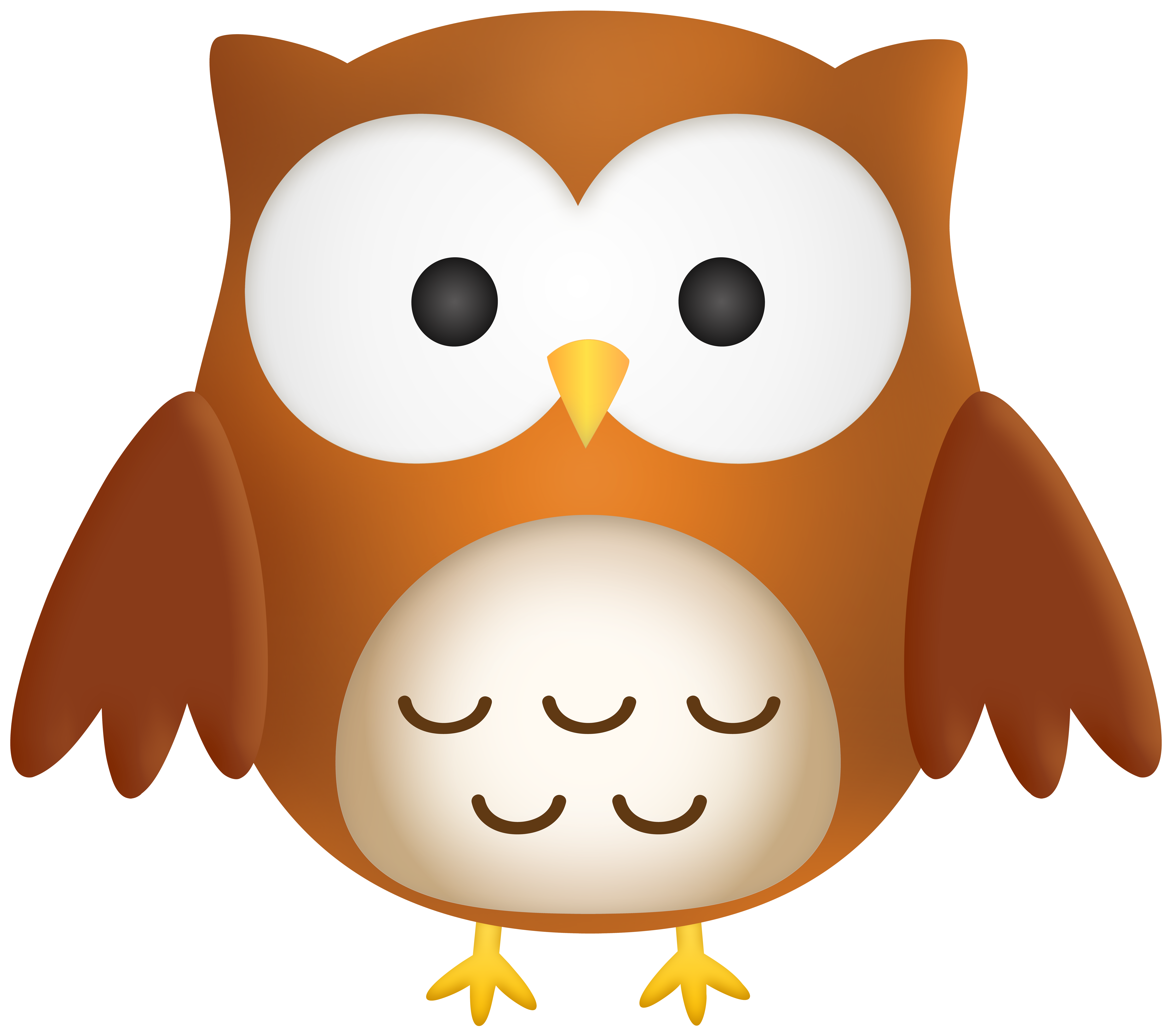 Cute Owl PNG Clipart.