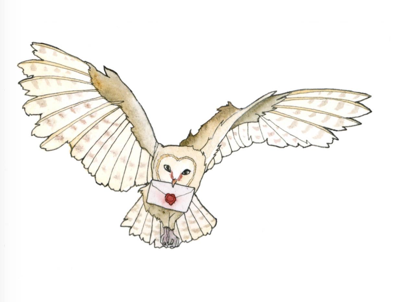 Owl Post Clip Art.