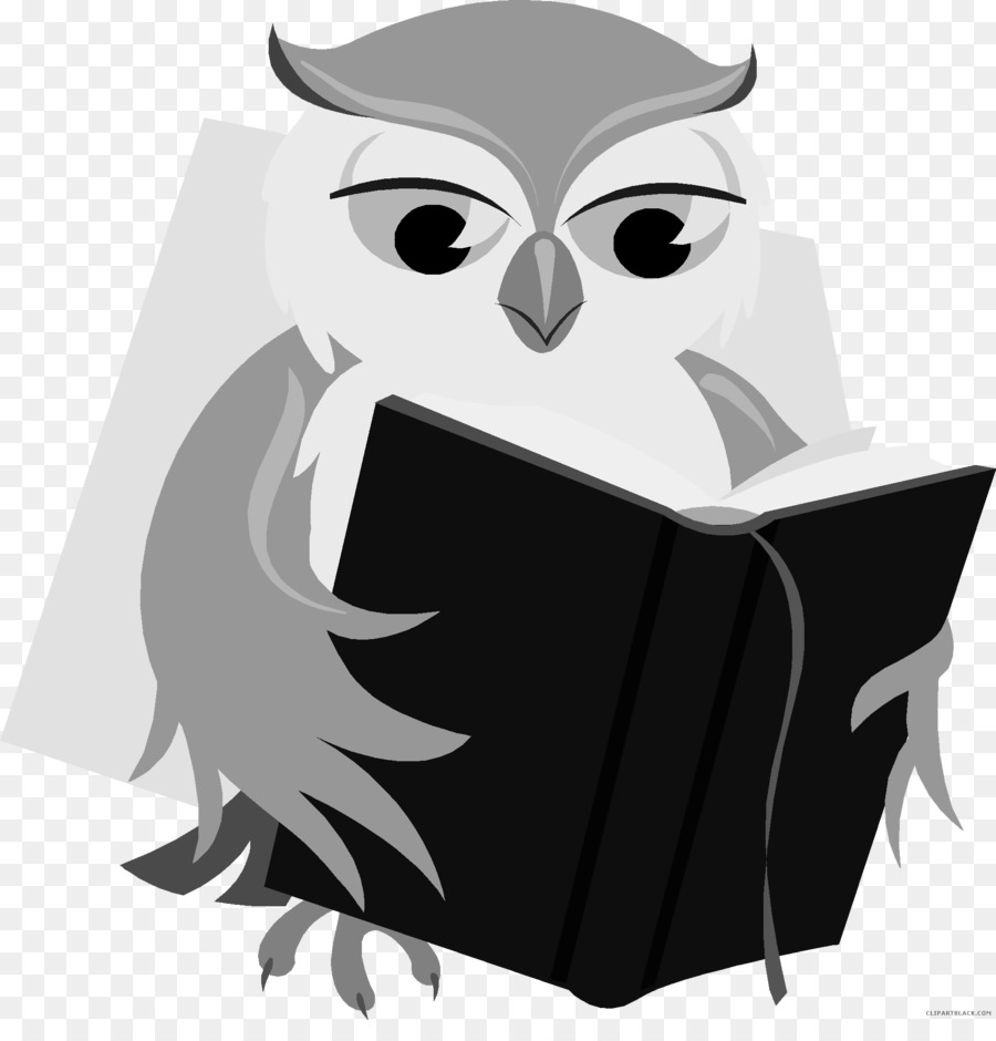 Baby Owl Book Reading Clip art.