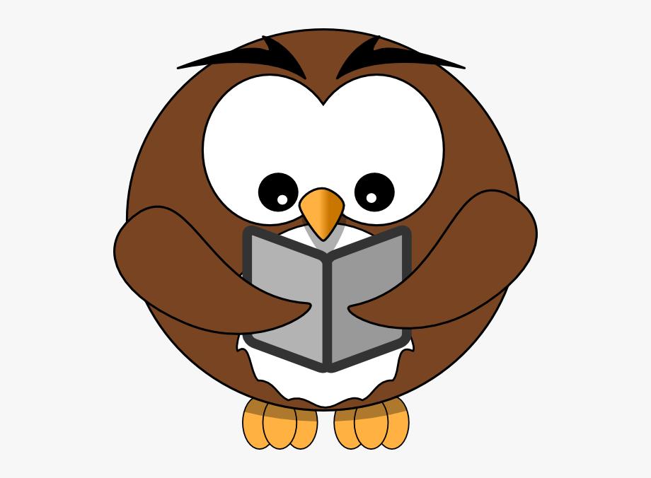 Reading Owl Clip Art.