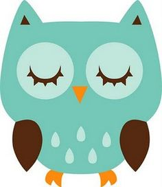 Cute sleeping owl clipart.
