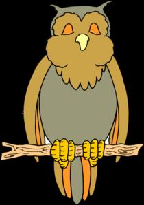 Perched Cartoon Owl Clip Art at Clker.com.