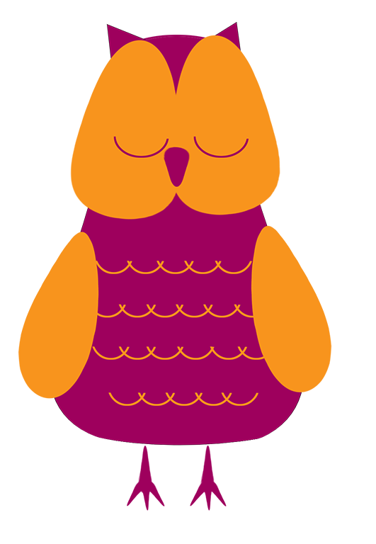Brown Sleeping Owl Clipart.