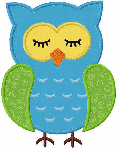 Cute sleeping owl clipart.