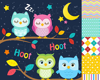 Sleeping Owl Clipart.