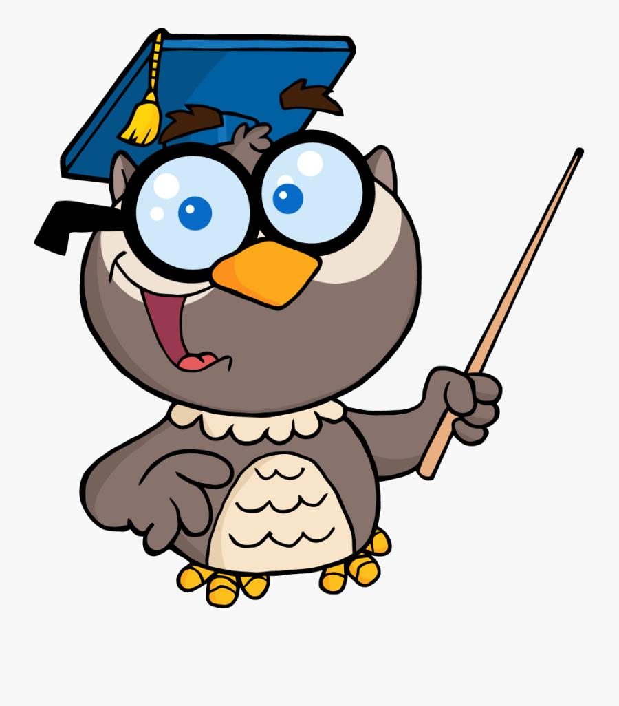 Owl Teacher Cartoon , Free Transparent Clipart.