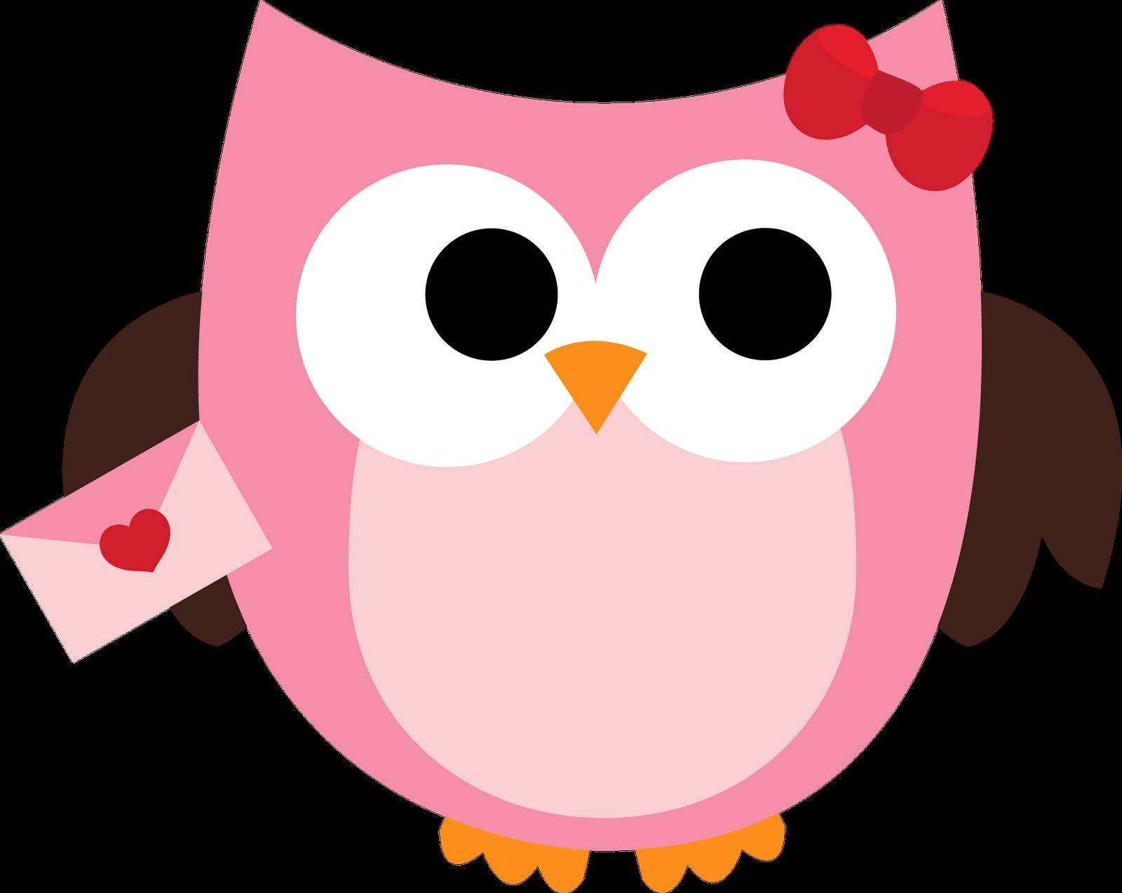 Free owl valentine clipart.