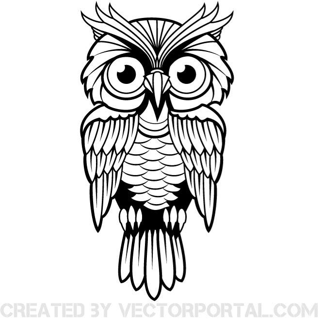 OWL VECTOR CLIP ART IMAGE.