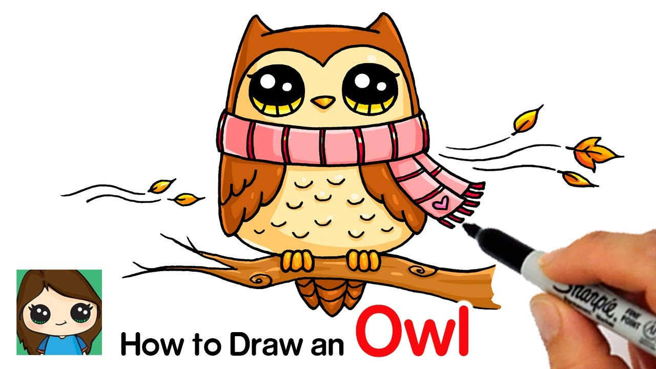 How to Draw an Owl for Fall Easy.