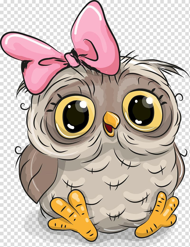 Owl Cartoon illustration Illustration, Cute owl, baby owl.