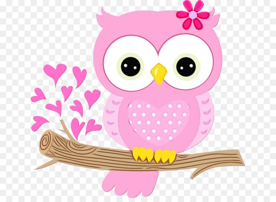 owl pink cartoon clip art bird.