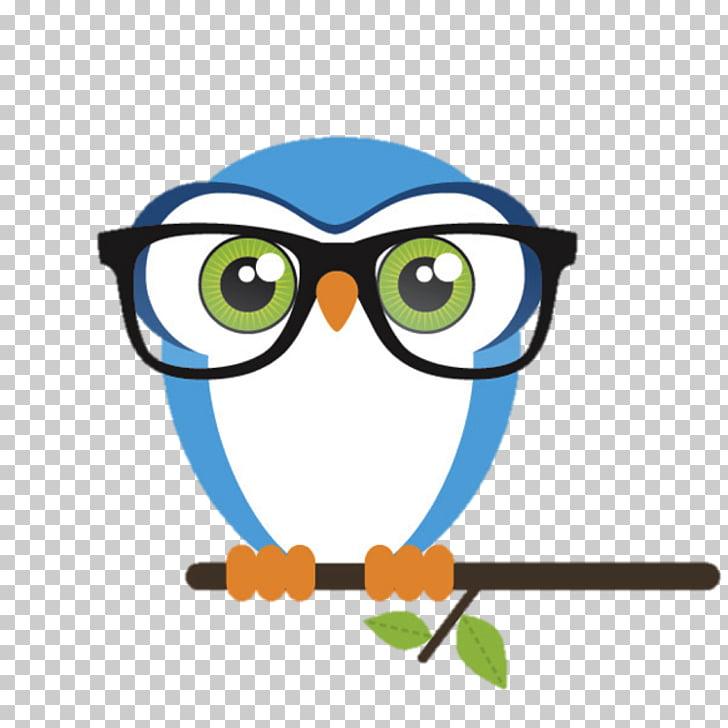 Owl Bird Glasses Nerd , owl PNG clipart.