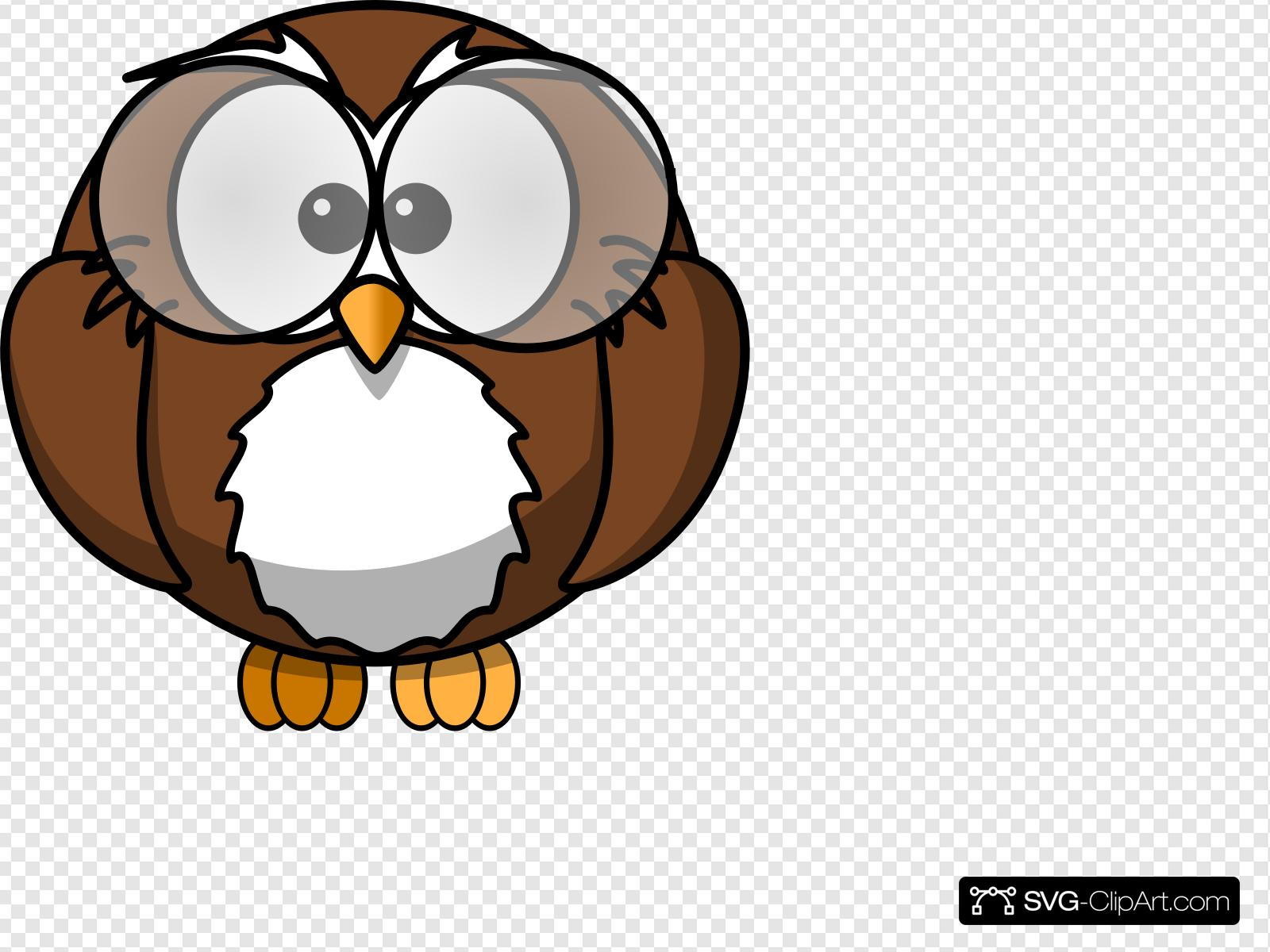 Owl With Glasses Clip art, Icon and SVG.