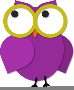 Owl With Glasses Clipart.