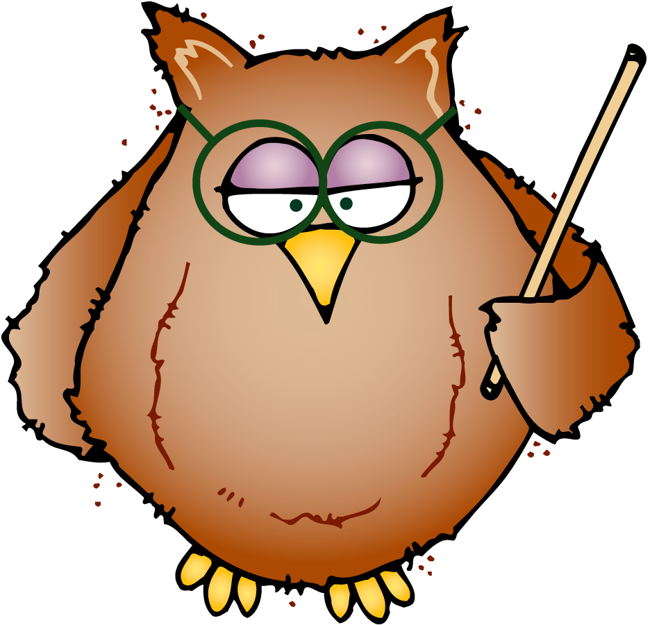 Owl Writing Clipart.