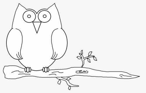 Free Owl Black And White Clip Art with No Background.