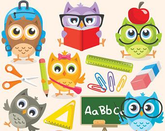 Clipart School Owl.