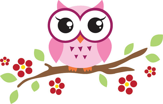 Free Owl on Branch Clipart Image.