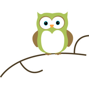 Two Owls On Branch Clip Art.