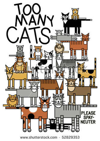 Spay/Neuter Is The Humane Answer To Cat Overpopulation. Type Style.